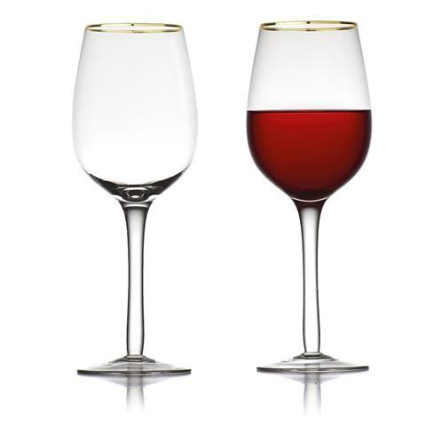 s/4 Gold Rim Wine Glasseschristmas`