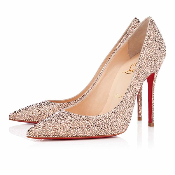 Christian Louboutin Decollete Strass 100mm Nude from shoesoutletssy.com