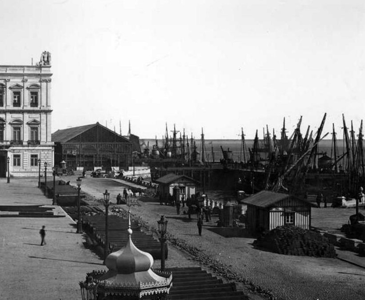 Terreiro do Paço in 1889, Lisbon