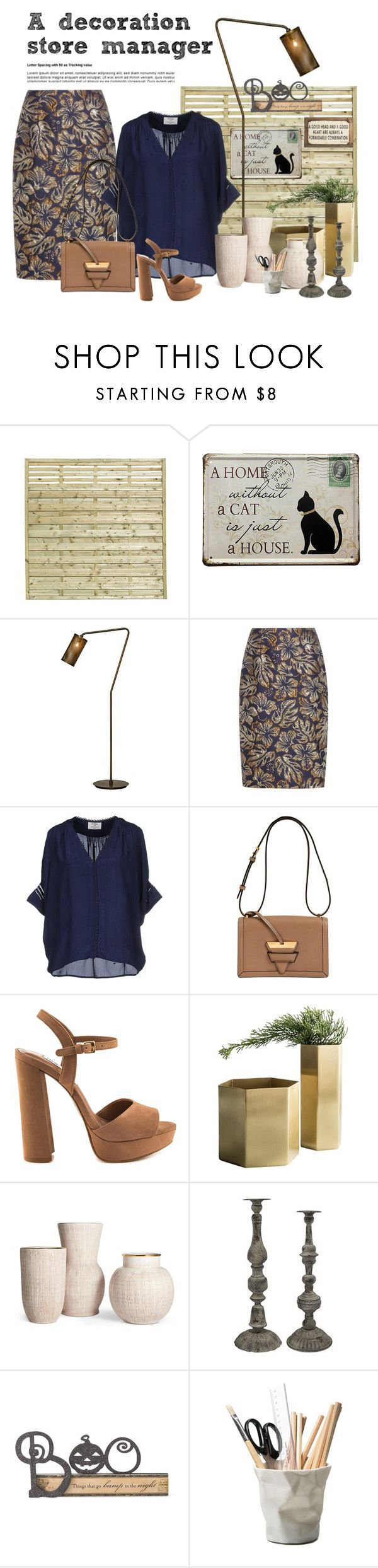 """A decoration store manager"" by suelysara ❤ liked on Polyvore featuring Prada, Loewe, Steve Madden, Minimal, A&B Home, K&K Interiors, ESSEY and Poncho & Goldstein"