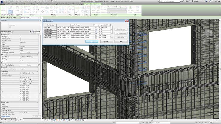 Modellamento di un'armatura in calcestruzzo 3D in ambiente BIM