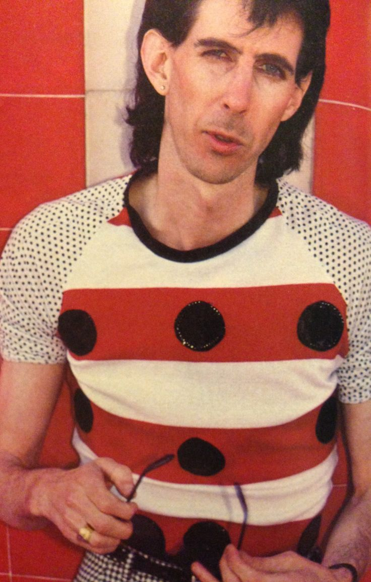 Ric Ocasek His shirt is so cute.