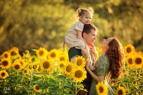 Осенняя фотосессия семейная