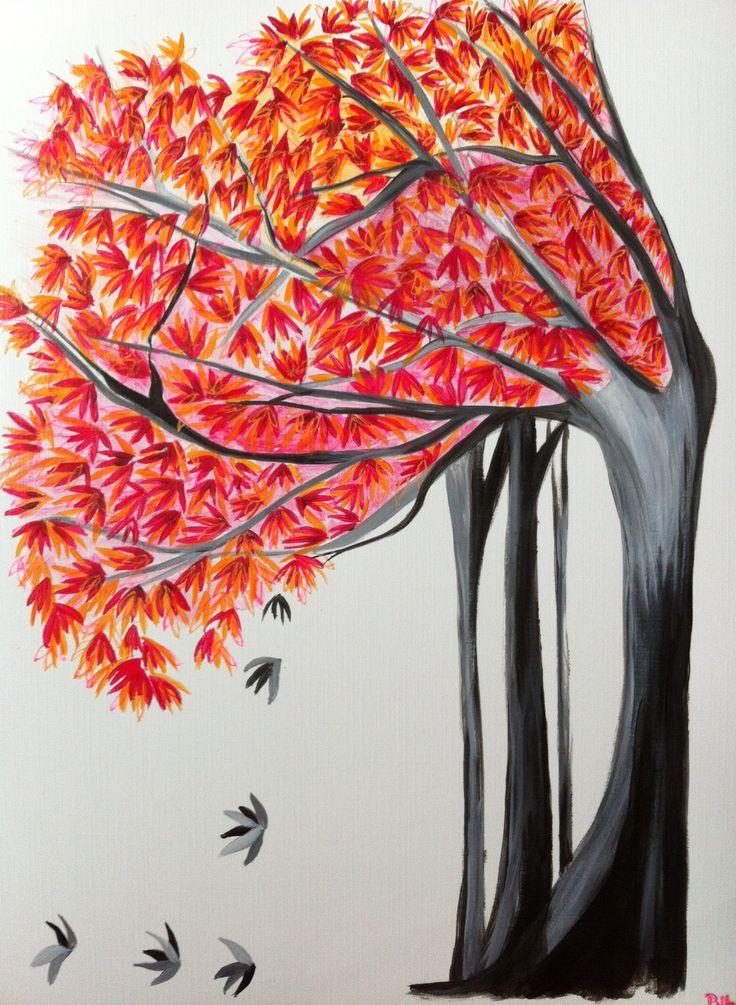 Peinture nature automnale@Lumeline-BLL Révérence automnale : Peintures par lumeline-bll