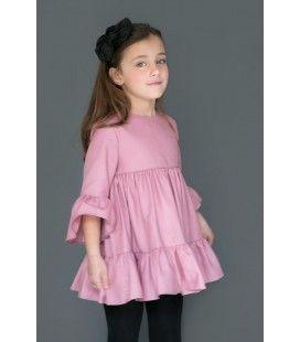 Vestido niña rosa Fabiola de NUECES KIDS