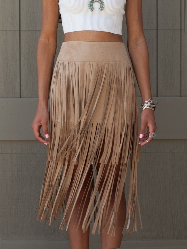 Camel Suede Fringe Skirt Swishy swashy away in this ultra soft suede skirt. Double layer for double the fun. $58