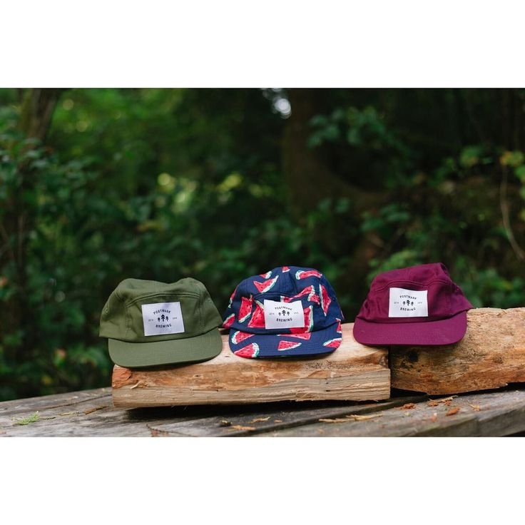 Trail Cap w/ Trees Crest | Available in plum, watermelon and olive. Made In #Vancouver BC #postmarkbrewing #postmarkapparel #fallcollection