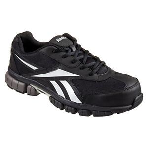 Reebok Ketia Safety Toe Work Shoes for Men - Black/Silver - 11.5 W