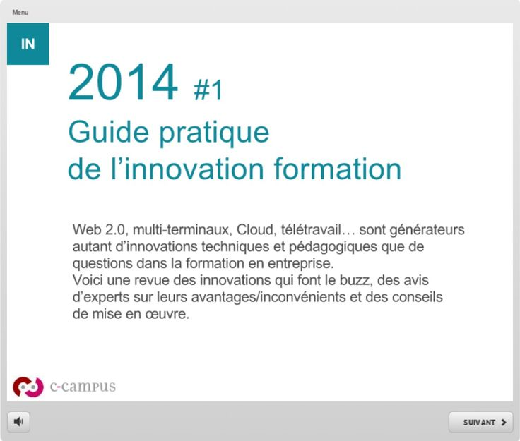 Guide pratique de l'innovation en formation