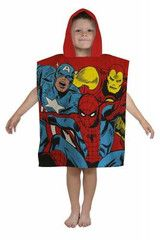 AVENGERS ~ Red Hooded Towel