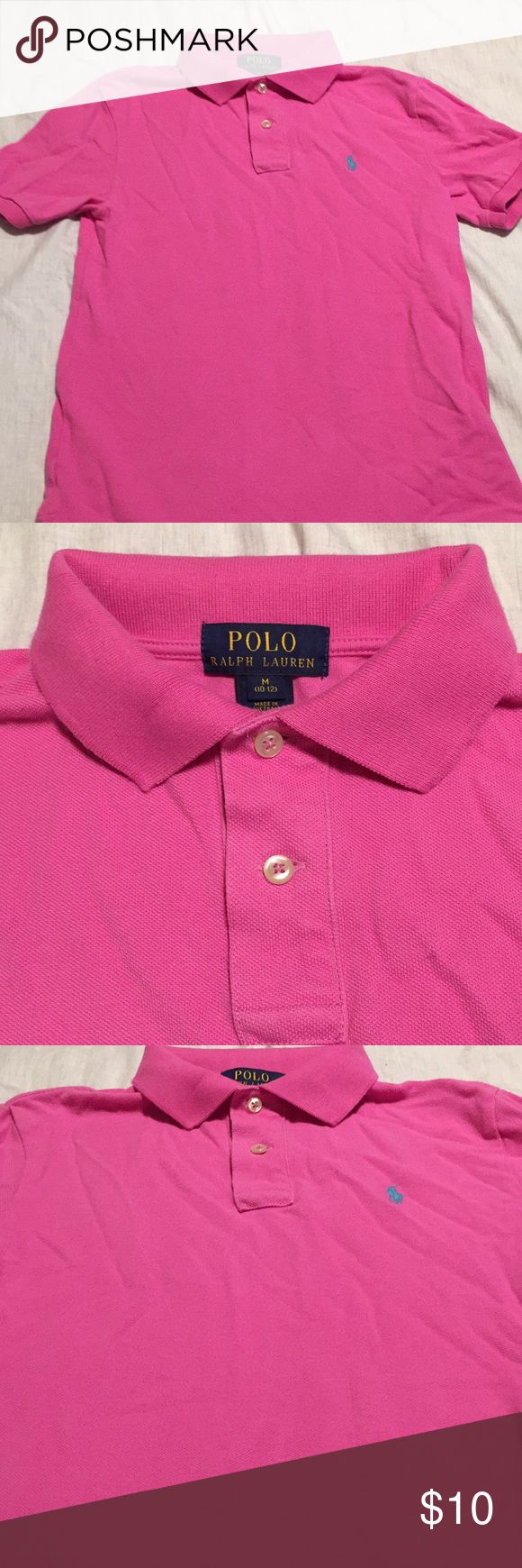 Polo by Ralph Lauren Pink Polo shirt Excellent condition Pink Ralph Lauren Polo size Medium 10-12 Boys Polo by Ralph Lauren Shirts & Tops Polos