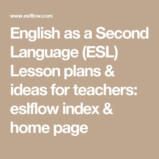 English as a Second Language (ESL) for Teachers and Students