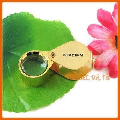 Металлических стентов Ювелирные Карманные портативные увеличительное стекло в 30 раз ювелирные изделия идентификации зеркало ювелирные изделия идентификации высокое magn