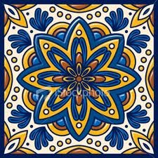 handpainted tiles from Mexico
