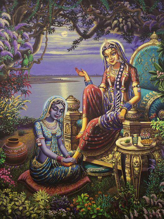 Krishna Disguised As Gopi