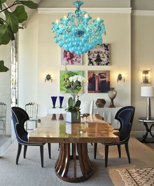 Loving this eclectic dining room by Erinn Valencich.