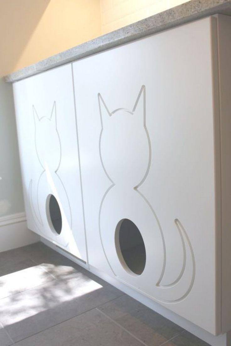 Besoin de cacher la litière de votre chat ? Voici 34 idées qui devraient vous intéresser !