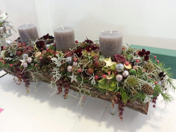 winter table arrangement design made for a bfa competition…
