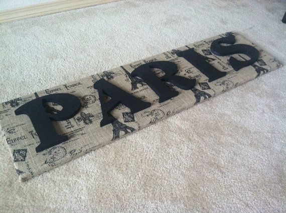 Large PARIS sign by AmandasMemoriesMade on Etsy, $60.00