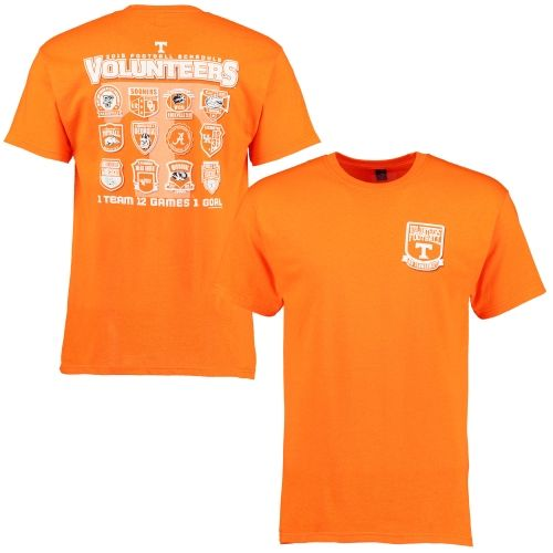 52d346b74 ... Tennessee Volunteers 2015 Football Schedule Patch T-Shirt - Tennessee  Orange ...