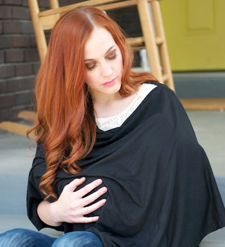 Super simple nursing shawl that covers front AND back.