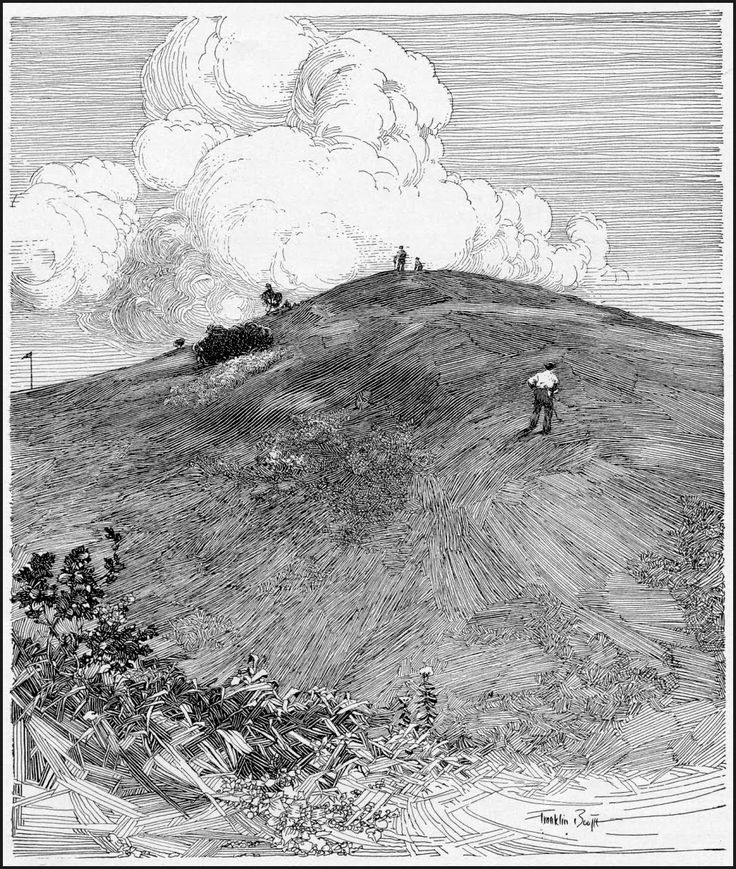 franklin booth art clouds and hill