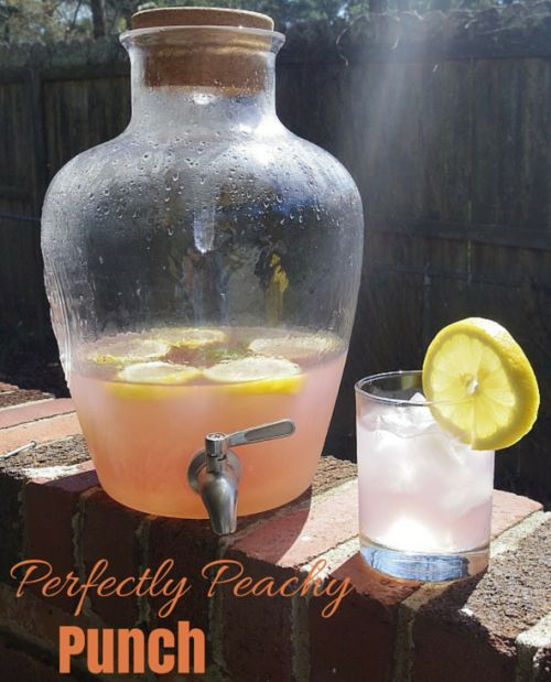 """""""Perfectly Peachy Punch"""" - Ciroc Peach, Limeade, Cherry Limeade, and fresh lemon juice. #cocktails #ciroc"""