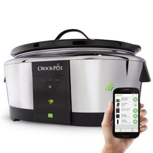 Smart Wifi-Enabled WeMo 6-Quart Slow Cooker:  Known for being the most tech-smart slow cooker ever,the WeMo 6-Quart allows anyone to check on their meal without actually being in the kitchen. All thanks to the amazing WiFi control, you can easily adjust the temperature of your meal remotely, without any hassle and on the go. With that being said, the slow cooker is dishwasher safe.