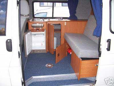 Camper van home builder furniture and layout examples for Campervan furniture plans