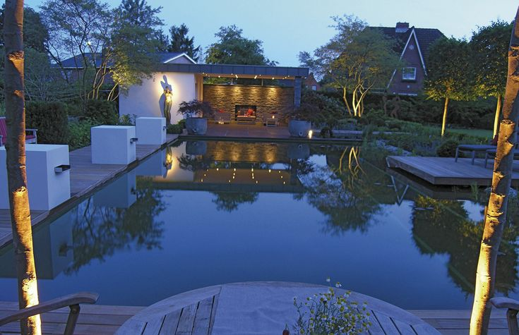 #chemicalfree swimming pool meets high glamour. #luxury