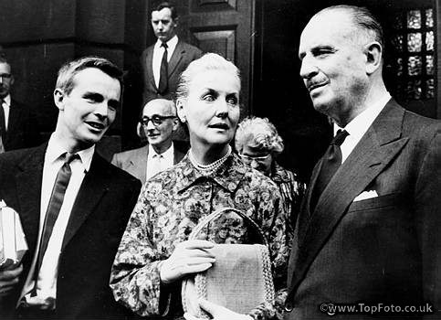 Sir Oswald Mosley and his wife Lady Diana with their son Mark. 1962