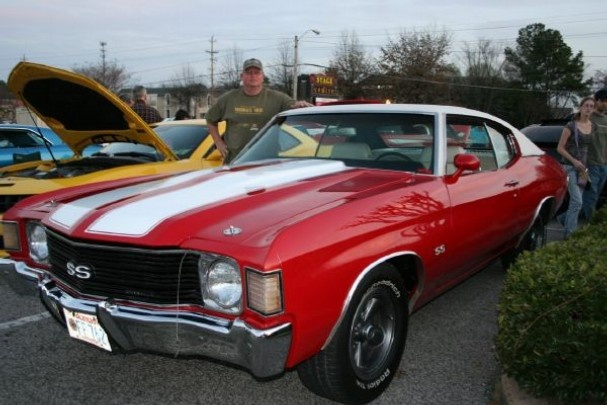 Red and white '72 Chevelle SS