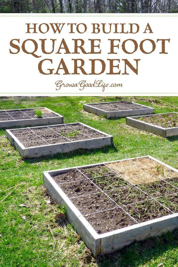 How To Build A Square Foot Garden Garden Design Modern