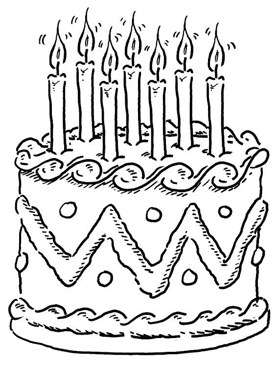72 Awesome Gallery Of Cake Coloring Pages Birthday Coloring Pages Coloring Pages For Kids Happy Birthday Coloring Pages
