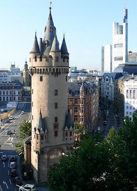 Eschenheimer Turm was a city gate, part of the late-medieval fortifications of Frankfurt am Main and is a landmark of the city Frankfurt - Germany