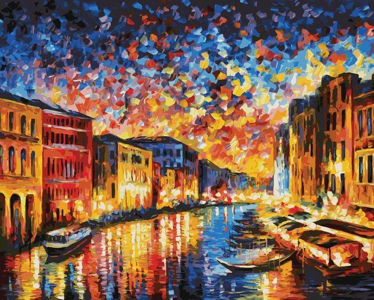 Раскраска по номерам  «Гранд-Канал Венеция»