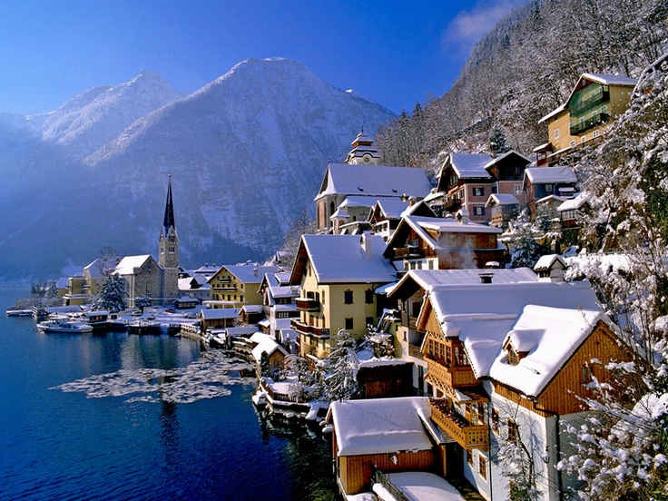 Hallstatt, AustriaHallstatt Austria, Favorite Places, Winter Wonderland, Snow, Beautiful Places, Christmas, Lakes, Travel, Hallstattaustria