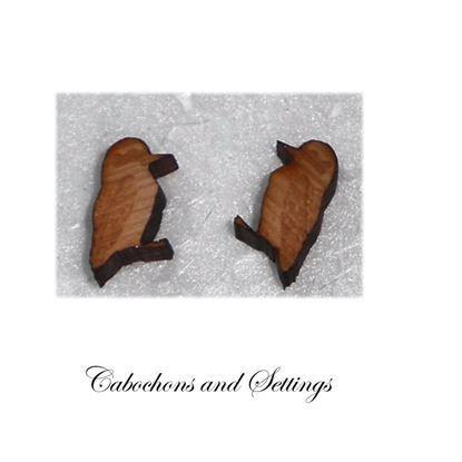 Show details for Tasmanian Huon Pine  Laser Cut Australian Native Creature Cabochons