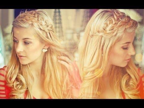 Double Loop Braids & Loose Curls Tutorial: Loops Braids, Hair Tutorials, Hairstyles, Beautiful, Loose Curls Tutorials, Hair Style, Double Loops, Loo Curls, Braids Headbands