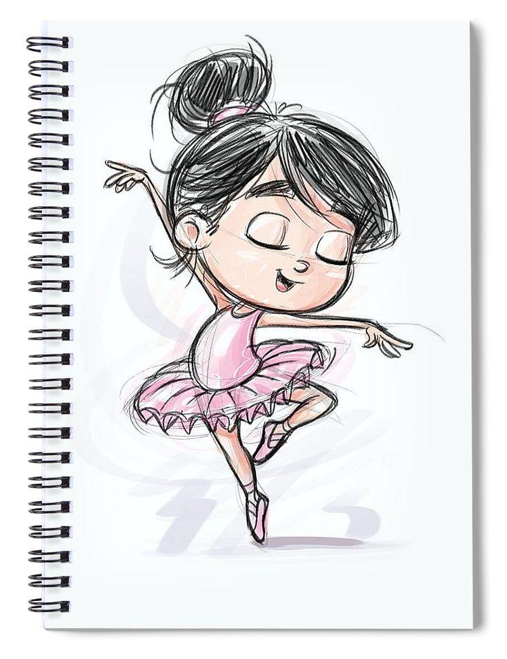 Прикольный рисунок балерины, открытка