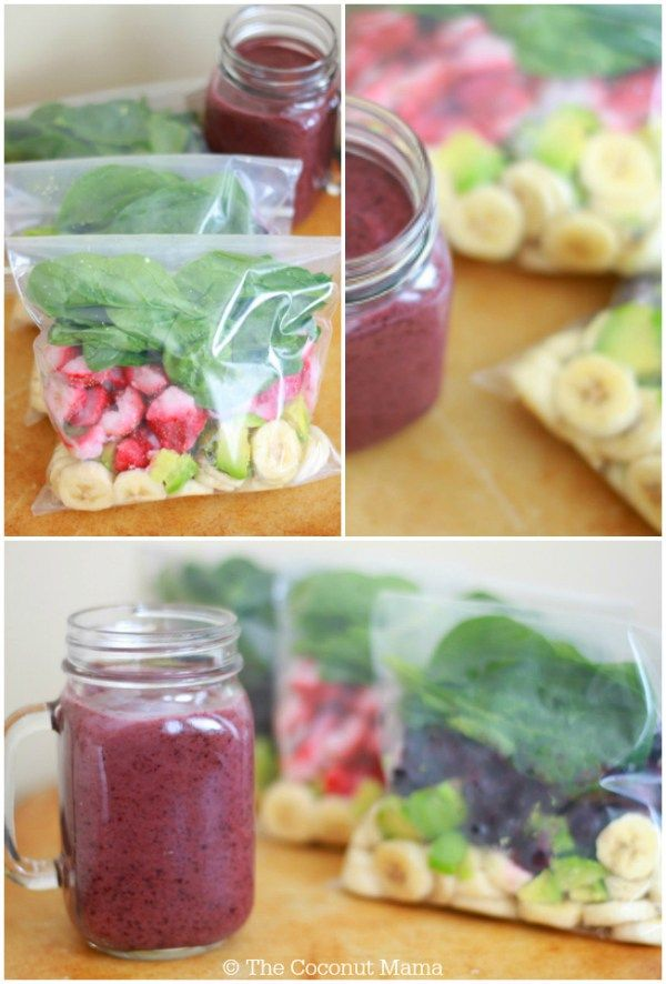 Smoothie Recipes: 10 Super Healthy Freezer Pack Recipes!