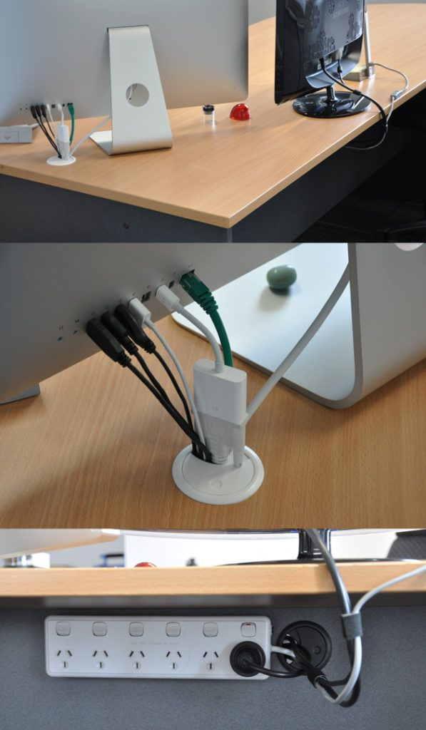 Desk cable management diy