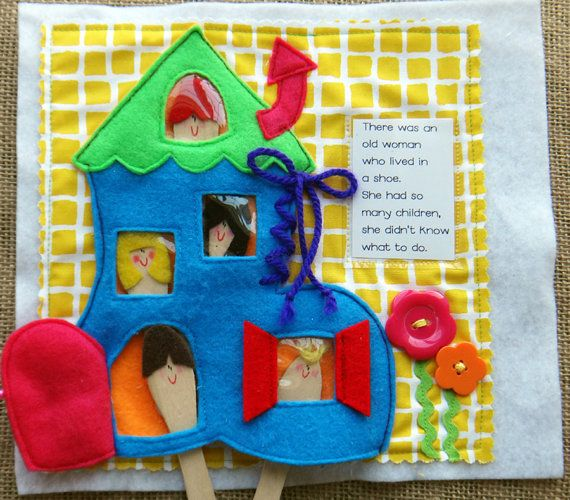 RHYME TIME felt Quiet Book .PDF Pattern by LindyJDesign on Etsy
