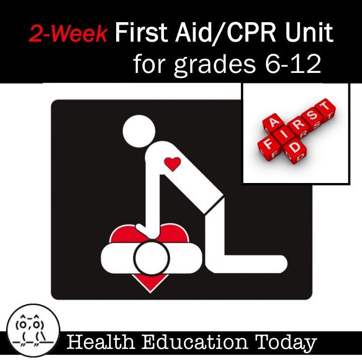 First aid worksheets for high school