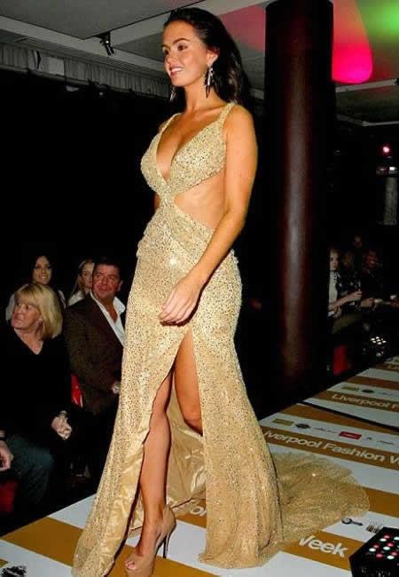 Jennifer Metcalfe Catwalk in Open Liverpool Fashion Week