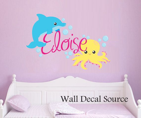 Octopus Wall Decal Ocean Vinyl Stickers by WallDecalSource
