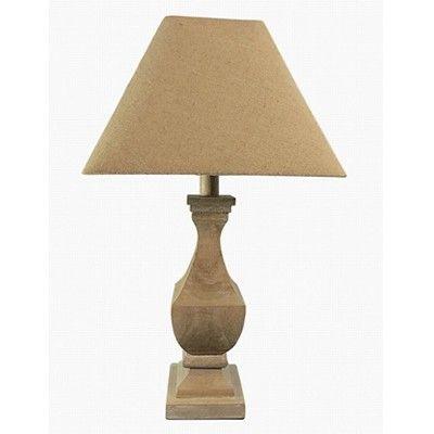 THE RANGE Wood Urn Table Lamp