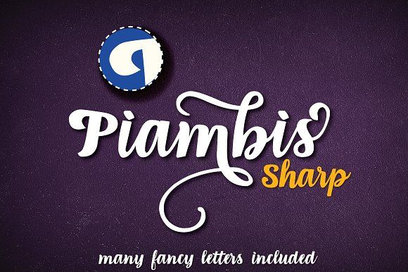 Piambis Sharp open type font by AgaSilva on @creativemarket