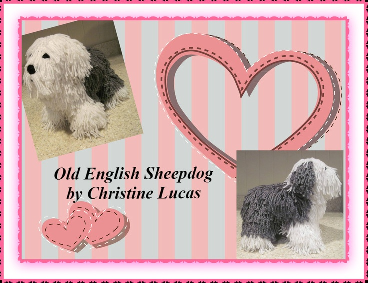Old English Sheepdog by Christine Lucas - This pattern is available for $2.99 USD.
