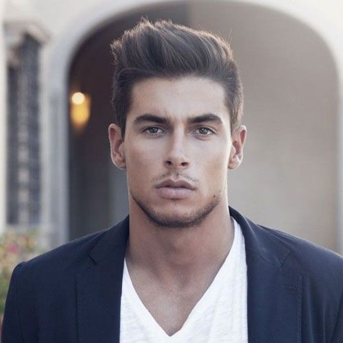 Best Classy Short Hairstyles For Men - Short Sides with Long Textured Hair on Top